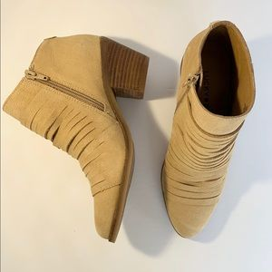 LUCKY BRAND Slit Ankle Booties